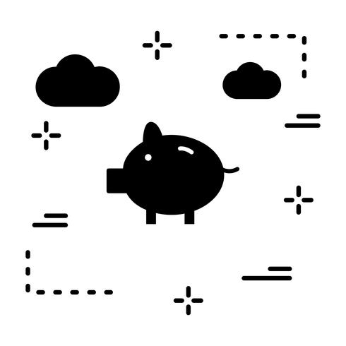 Vector Piggy Bank pictogram