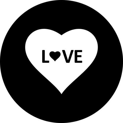 Vector hart liefde pictogram
