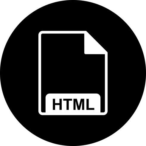Icône Vector HTML