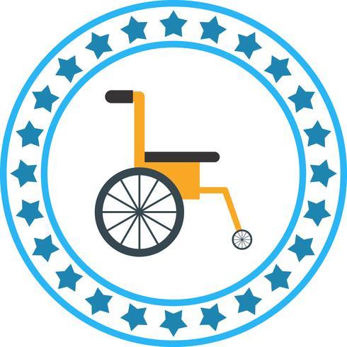 Vector wiel stoel pictogram
