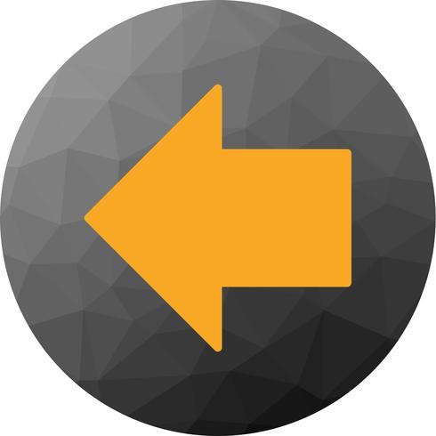 Vector LeftWard Arrow Icon