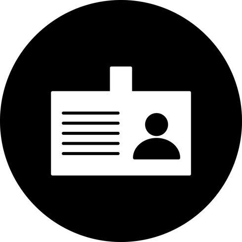 Vector identiteitskaart pictogram