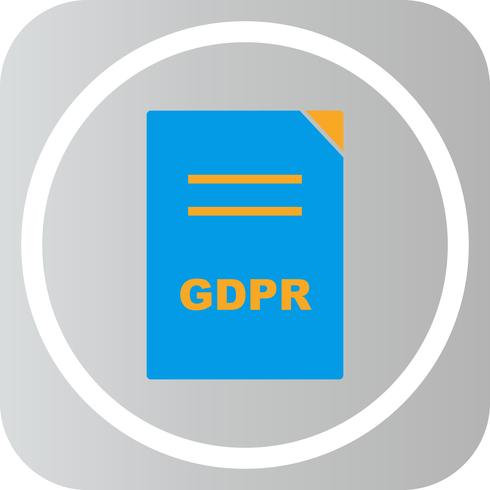 Vector GDPR-documentpictogram