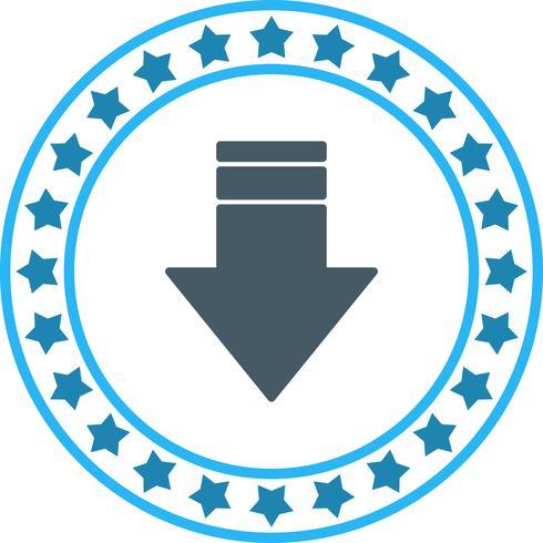 Vector neerwaartse pijl pictogram