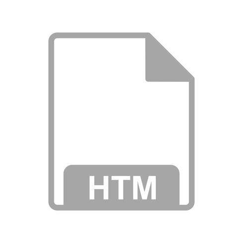Vector HTM-pictogram