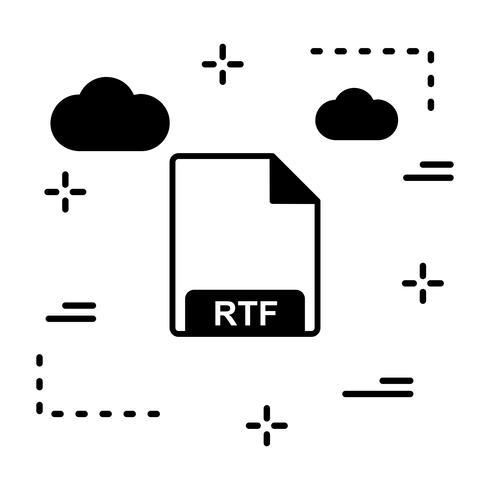 Vektor-RTF-Symbol vektor
