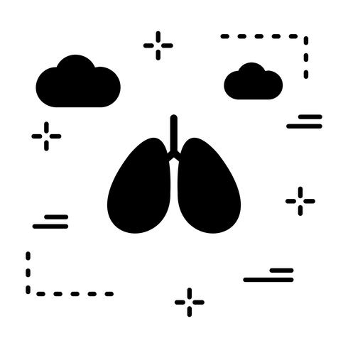 Vector longen pictogram