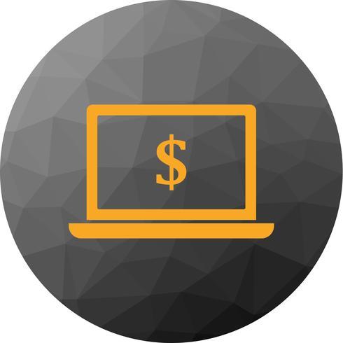 Vector Laptop geld pictogram