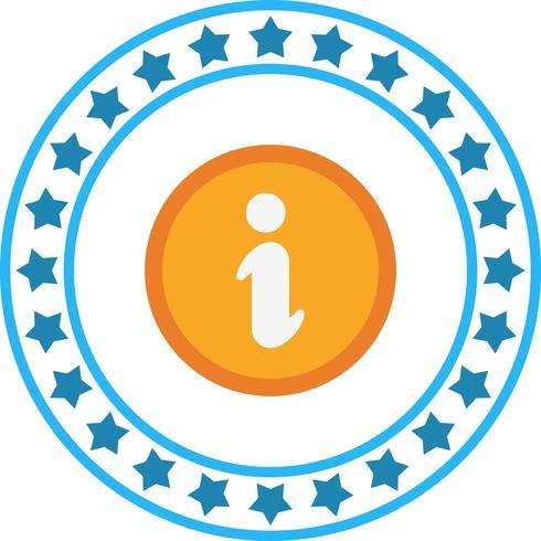 Icono de información vectorial