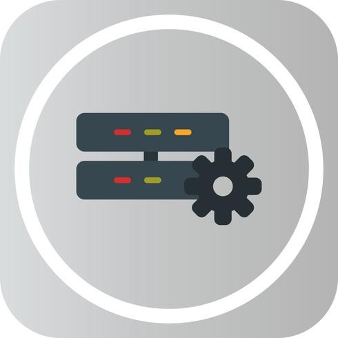 Vector server instelling pictogram