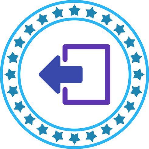 Vector afmelden pictogram