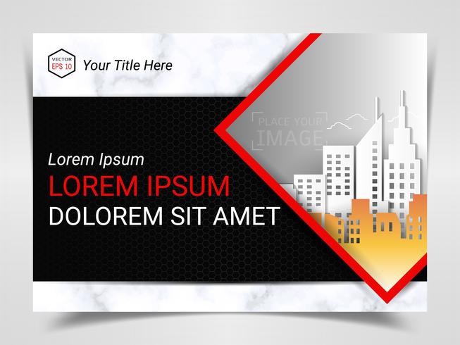 Print Advertising Ready Template, A4 Size Design for Company Marketing Presentation. vector
