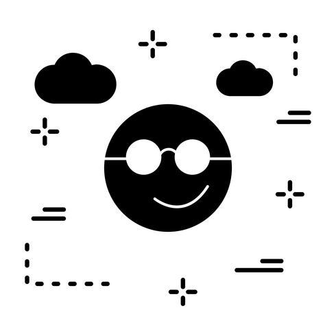 Vector Cool Emoji Icon