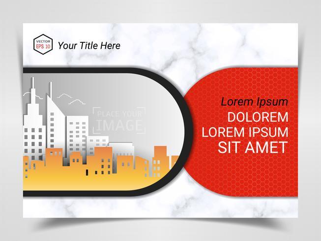 Imprimir plantilla de publicidad lista, diseño de tamaño A4 para la presentación de marketing de la empresa.