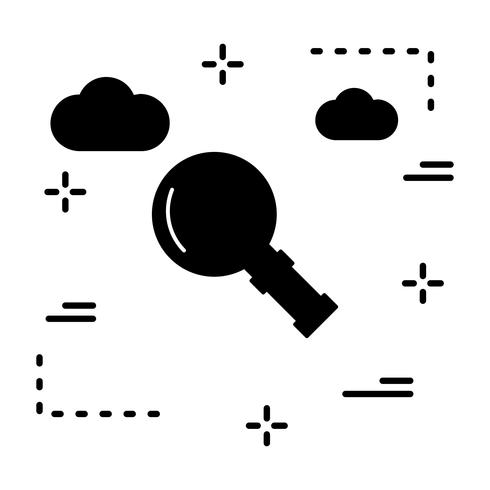Vector Magnifire glazen pictogram