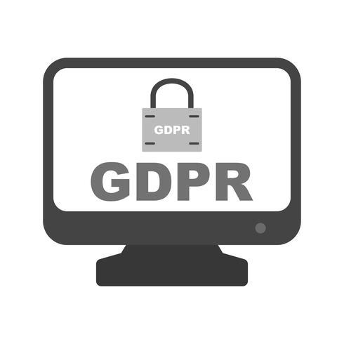 Vector GDPR-beveiligingsslot Schermpictogram