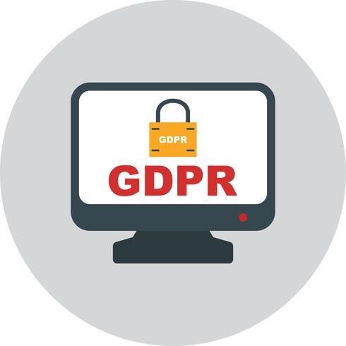 Icona di blocco di sicurezza vettoriale GDPR