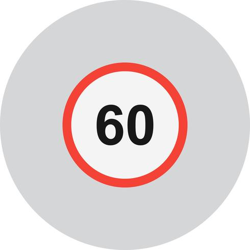 Vector Speed Limit 60 Icon