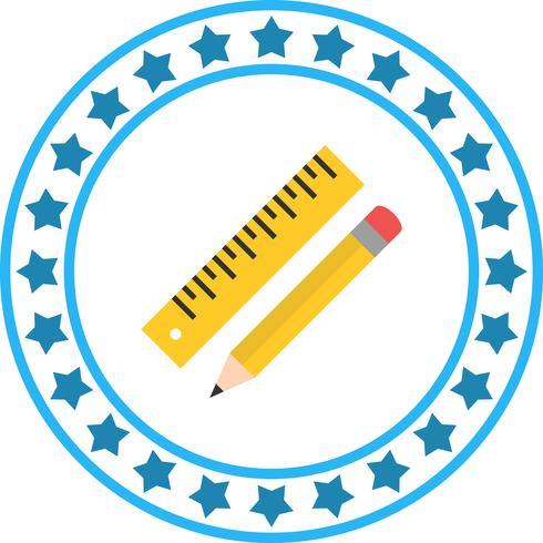 Vektor penna och linjal ikon