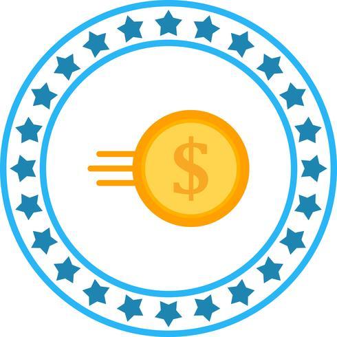 Vector icono de moneda rápida