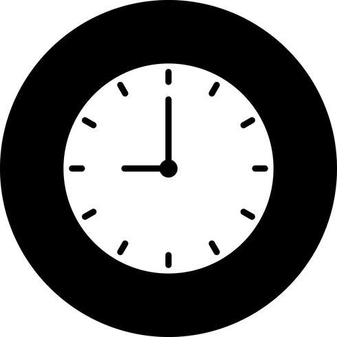 Ícone de relógio de vetor