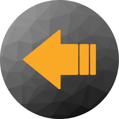 Icono de flecha izquierda vector