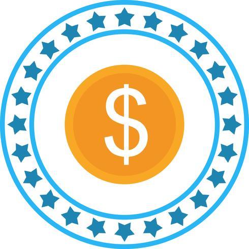 Vector icono de moneda