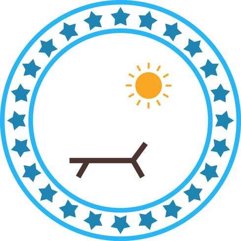 Vector icono de playa soleada