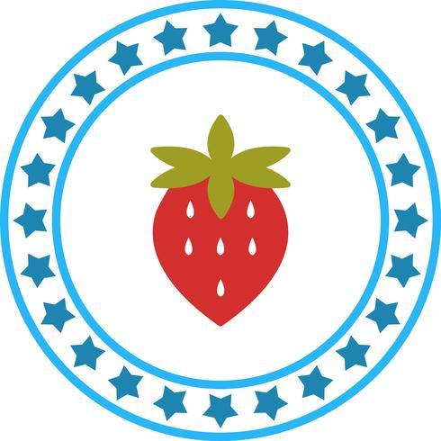 Vector morango ícone