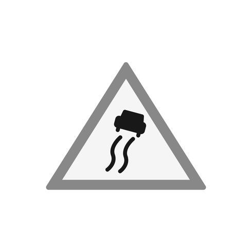 Vektor Slippery Road Sign Icon