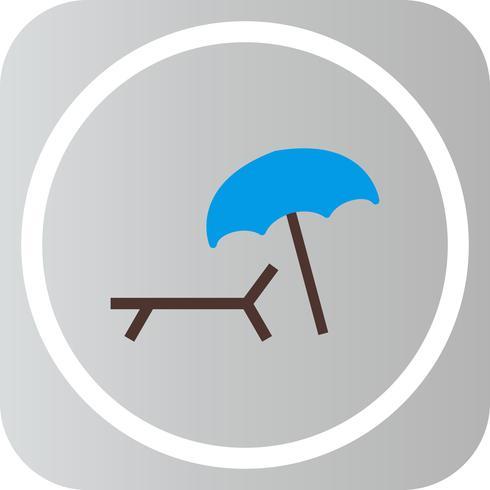 Vektor-Sonnenschirm und Stuhl-Symbol