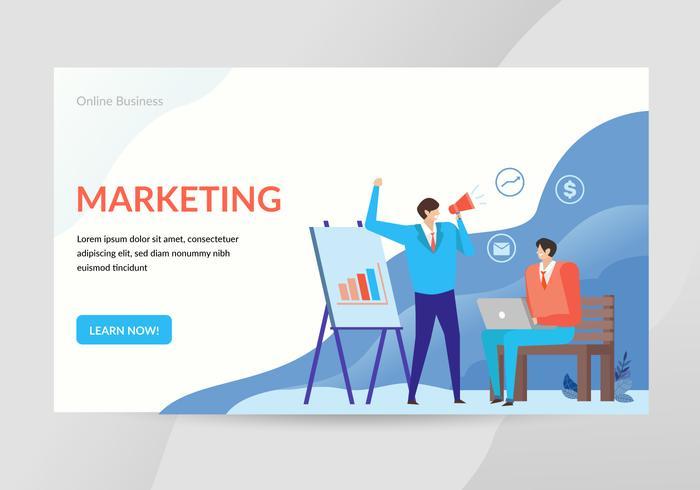 Marketing Concept Ilustración Landing Page Web
