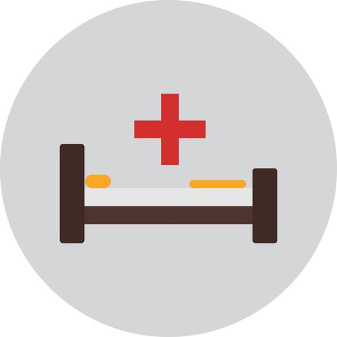 vektor hospiatl säng ikon