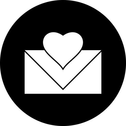 Vector icono de carta de amor