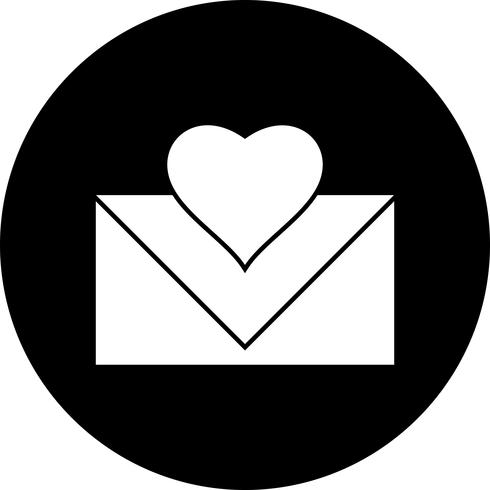 Vector liefdesbrief pictogram