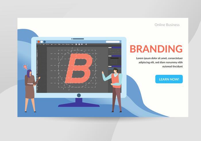 Branding-Konzept-Charakter-Illustration