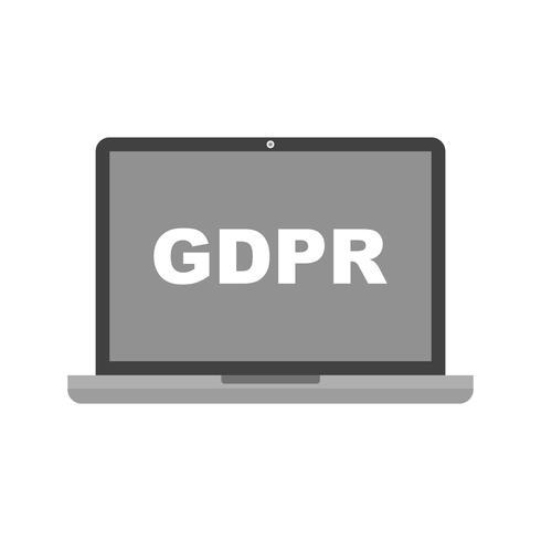 Icona GDPR vettoriale