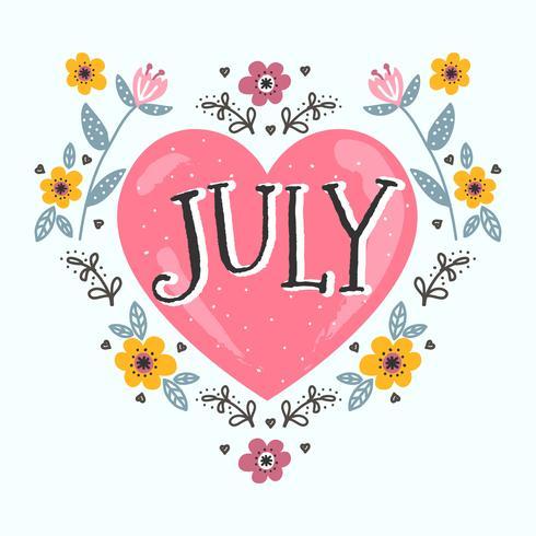 Diseño tipográfico de julio