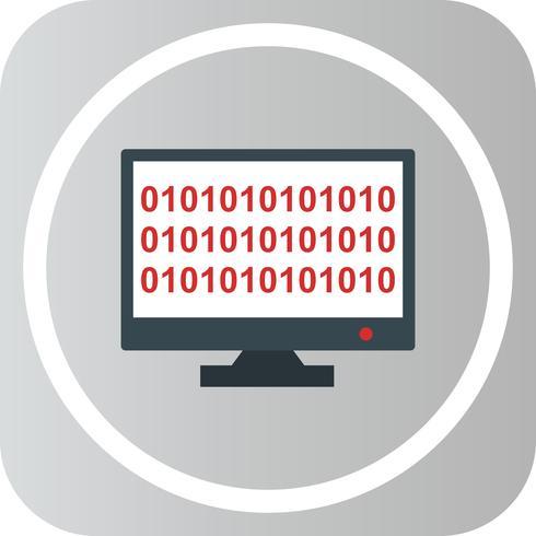 Vector de código binario icono en línea