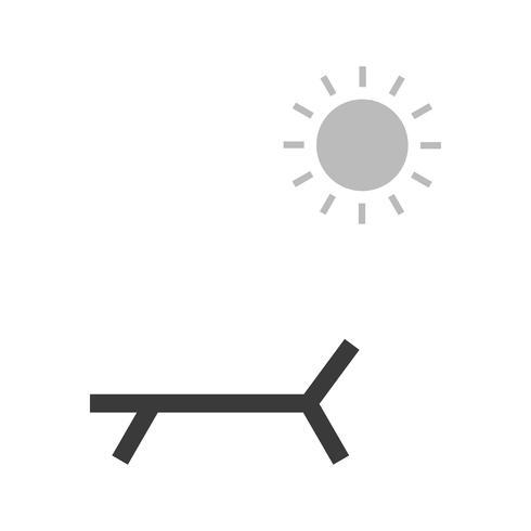 Icône de vecteur Sunny Beach