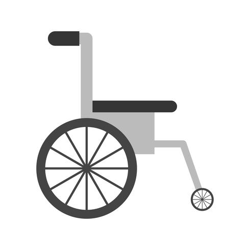 Vector icono de silla de ruedas