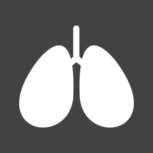 Vector icono de pulmones