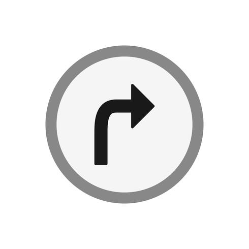 Vector Gire a la derecha icono