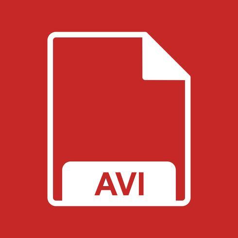 Vektor AVI-ikon