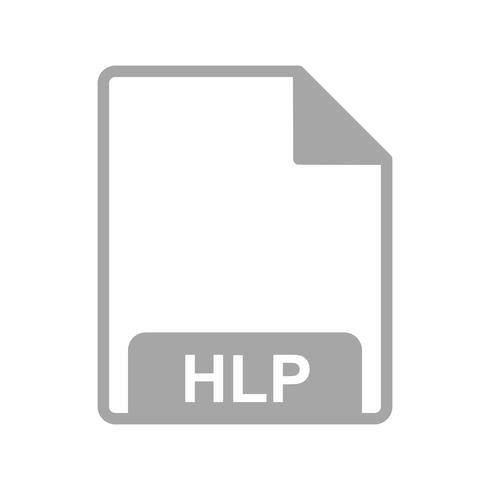 Icône de vecteur HLP