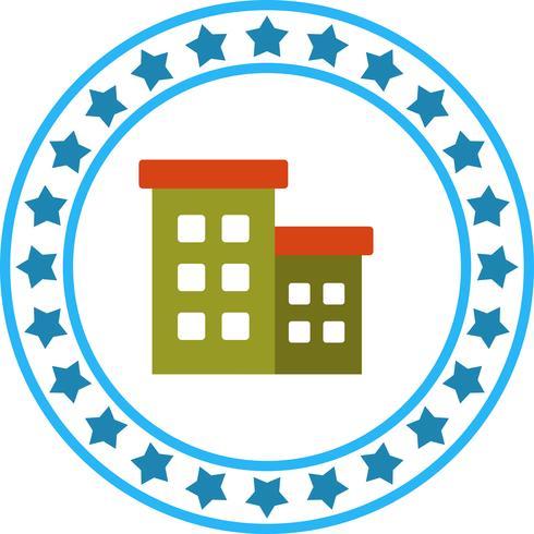 vektor kontorbyggnad ikon