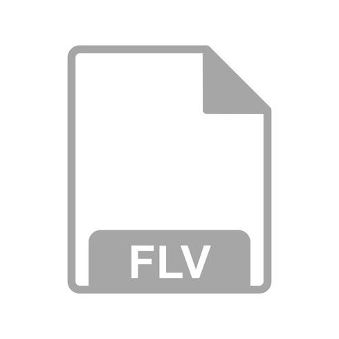 Vector FLV Icon