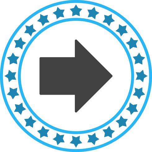 Vector Rightward Arrow  Icon