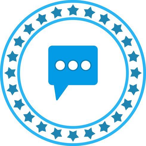Icona del messaggio vettoriale