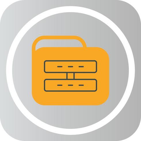 vektor server mapp ikon